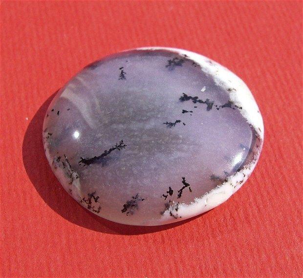 Cabochon opal dendritic aprox 28x6.5 mm