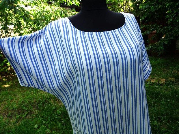 Rochie din vascoza, cu dungi
