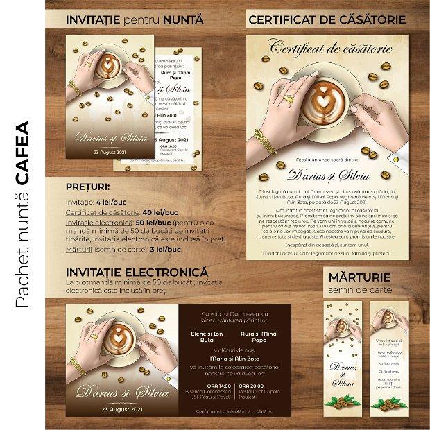 Invitatie nuntă -electronică- CAFEA