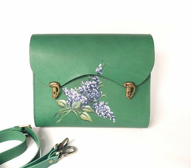 Geanta verde liliac
