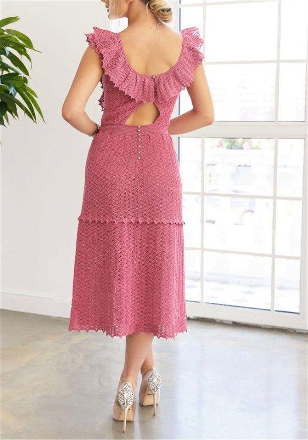 Rochie eleganta de vara, crosetata (Cocktail Dress)