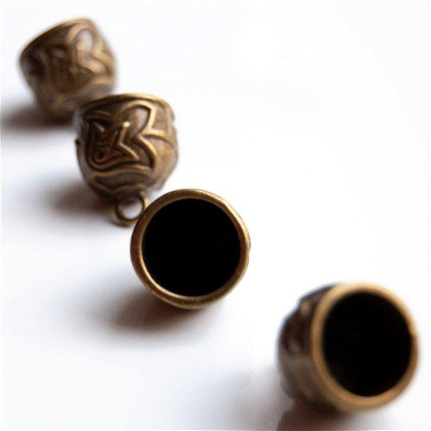 Capacele decorative bronz cu aspect vintage  (2 buc)