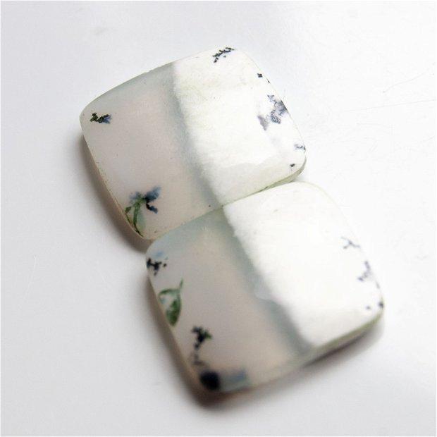 Pereche opal dendritic - cabochoane - O56