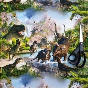 !imediat!Jerse buclat (french terry) - de la 50x90cm - elastic, Dinozauri