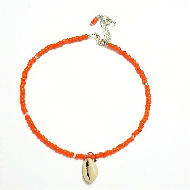 Bratara picior portocaliu scoica