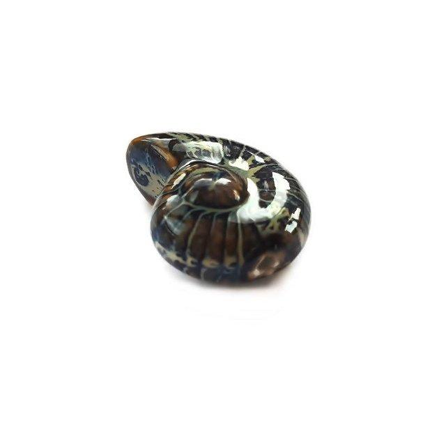 Pandantiv portelan glazurat Sea Snail 40x30mm  GSLAK-T 077