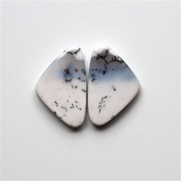 Pereche opal dendritic - cabochoane - OS2