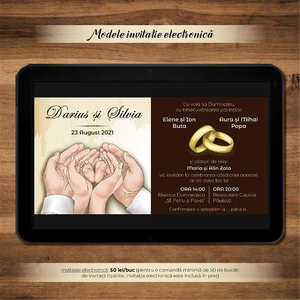 Invitatie nuntă -electronică- CĂSĂTORIE ÎMPLINITĂ