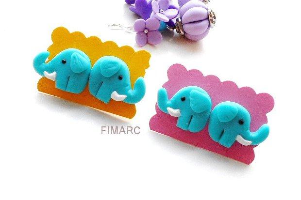 Elefanti - cercei pe ureche