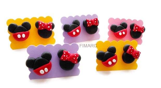 Minnie si Mickey Mouse - cercei pe ureche
