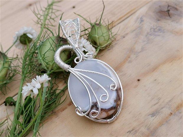 Pandant opal dendritic