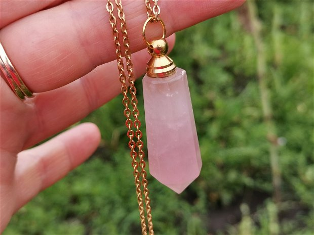 Colier strawberry quartz