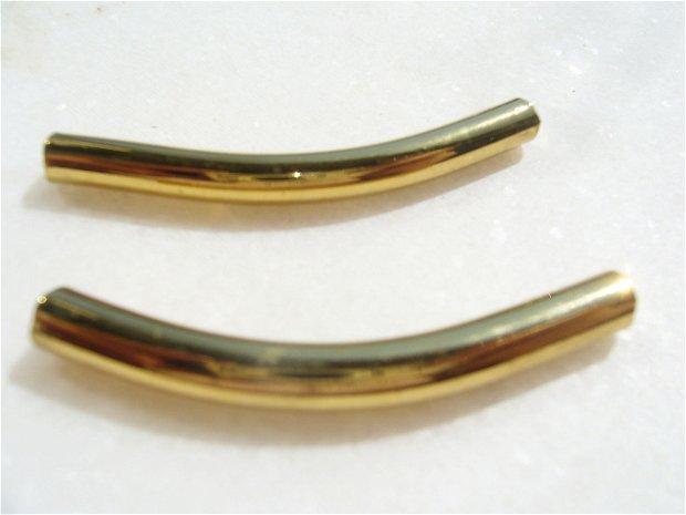 Tub arcuit auriu din sticla (provenienta America - lucrat manual) aprox 46-47