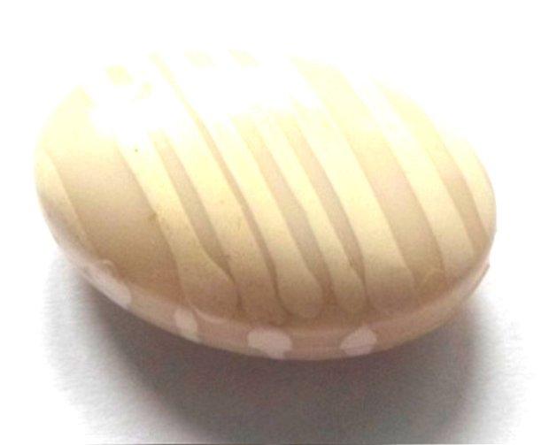 Margele plastic banut oval nuante de gri