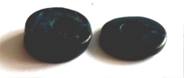 Margele plastic rondele nuante de verde inchis