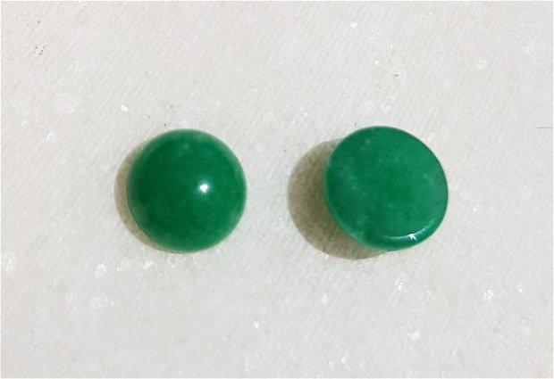 (2 bucati) Cabochon din jad aprox 8x4 mm