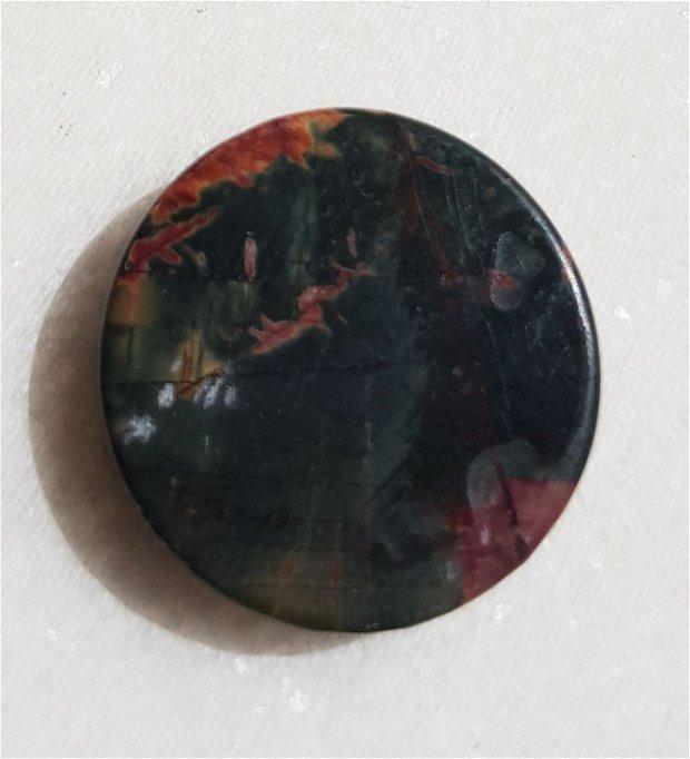Cabochon Picasso jasper aprox 25x6.5 mm