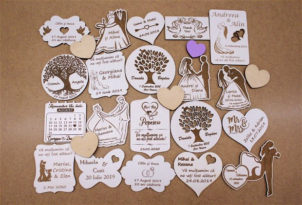 Marturii nunta gravate