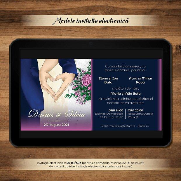 Invitatie nuntă -electronică- INIMA NOASTRĂ