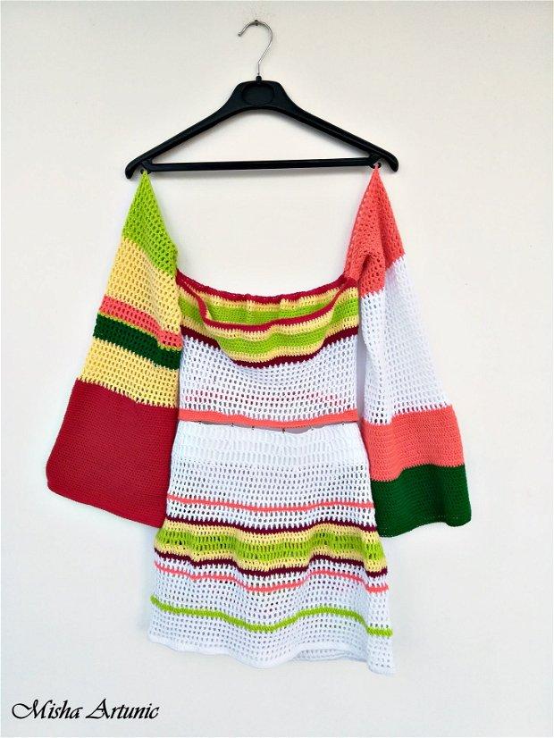 REZERVAT - Bluza si fusta crosetata