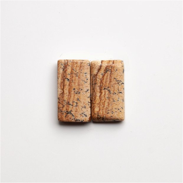 Pereche Jasper - cabochoane (2 buc)  - j213