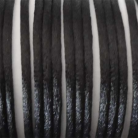 Snur matase 2mm negru SLK_202, 19m