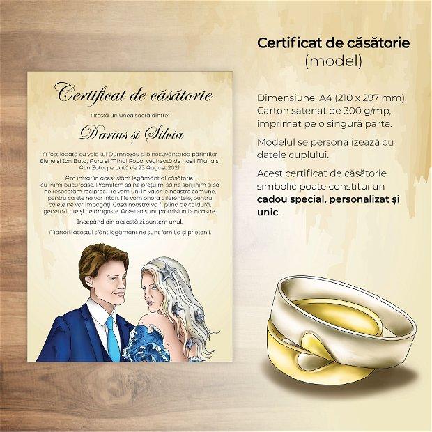 Certificat de căsătorie - MARIN