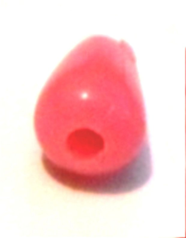 Margele plastic lacrima roz inchis mat