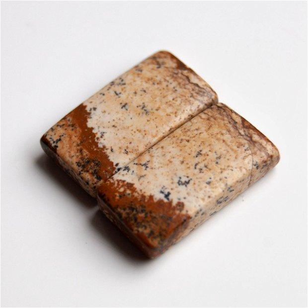 Pereche Jasper - cabochoane (2 buc)  - j211