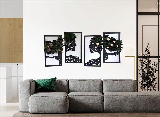 Copaci indragostiti - tablou 4 piese