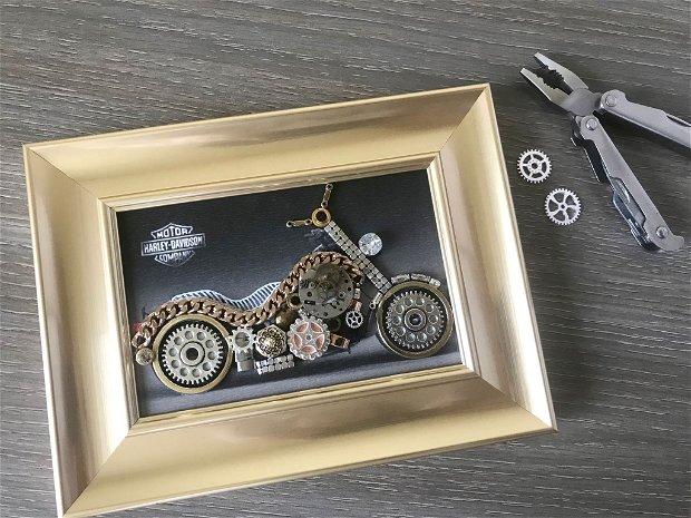 Harley Davidson Cod M 494, Cadouri originale pentru barbati, Cadouri zile de nastere, Martisor