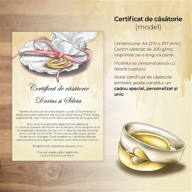 Certificat de căsătorie - SCOICĂ
