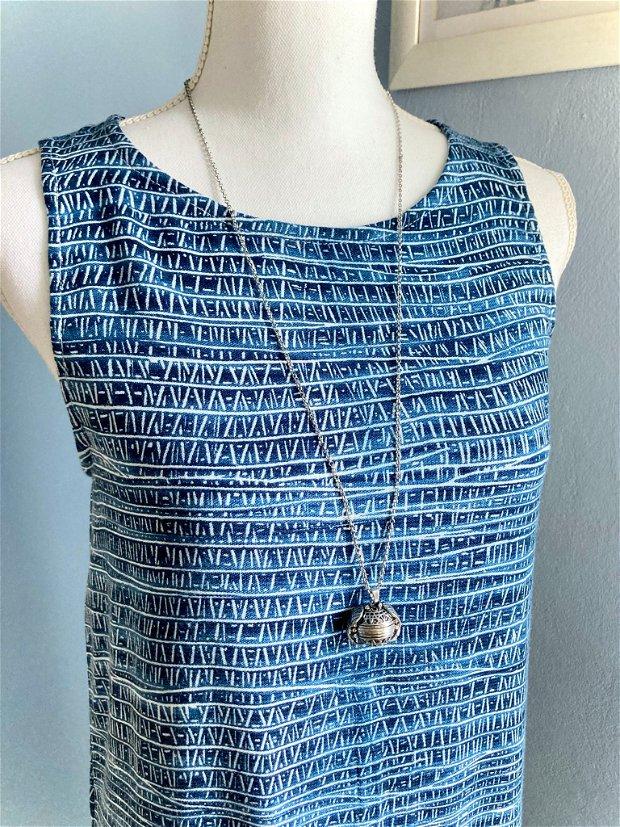 Rochie Vara Albastru cu Alb (măsura S, unicat)