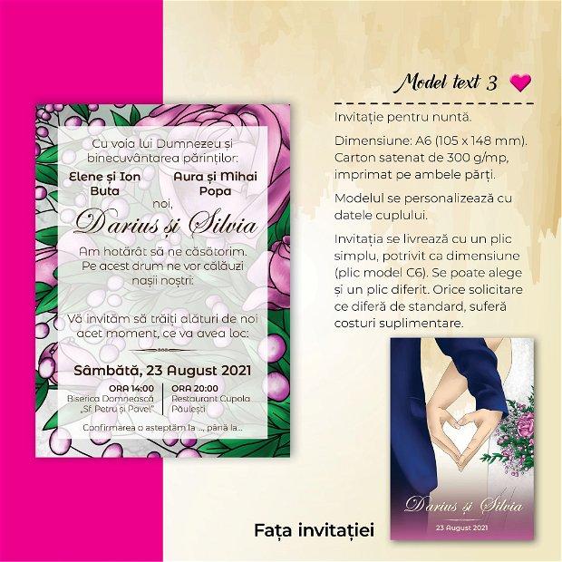 Invitatie nuntă - INIMA NOASTRĂ