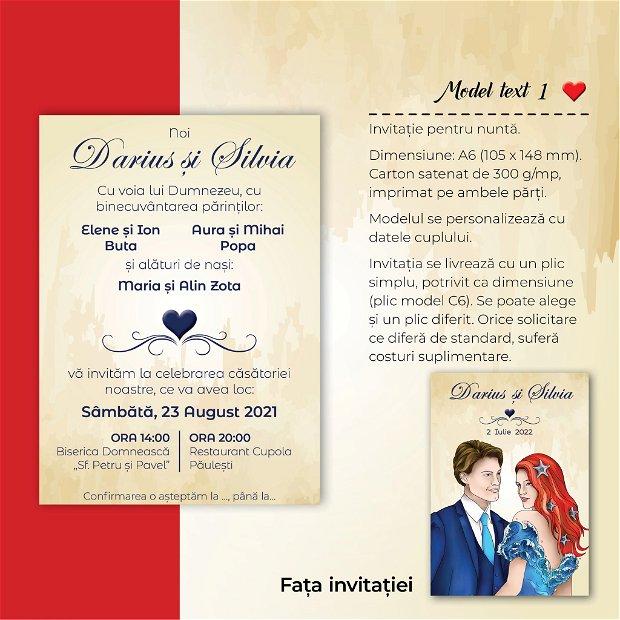 Invitatie nuntă - MARIN - roșcată