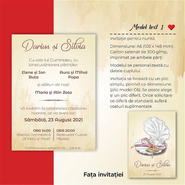 Invitatie nuntă - MARIN - scoică