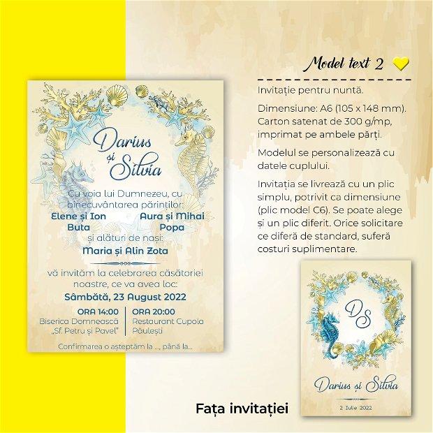 Invitatie nuntă - OCEAN
