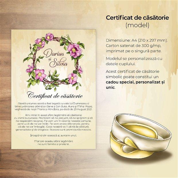 Certificat de căsătorie - TRANDAFIRI SĂLBATICI