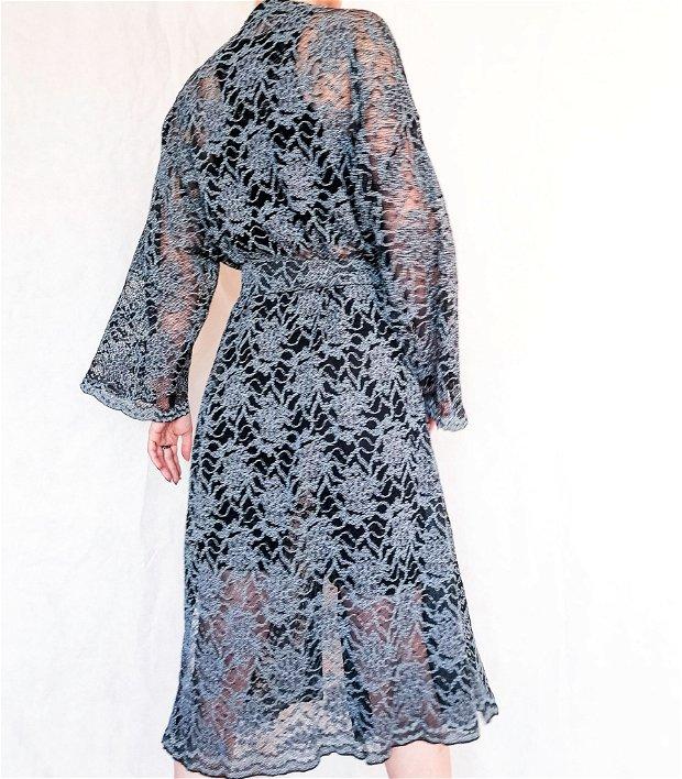 Kimono dantela turcuaz