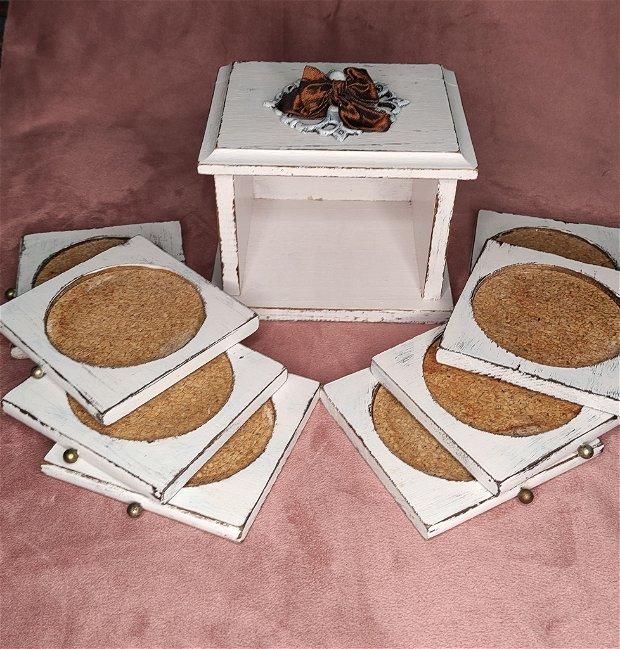 Set suport de pahare/cutie coaster