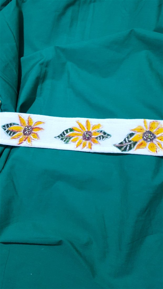 Brâu/cordon pictat cu floarea-soarelui