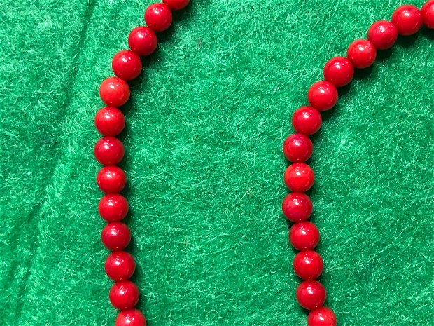 Sirag coral 4 mm (104 margele ) - CRO6