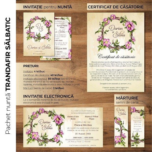 Certificat de căsătorie - TRANDAFIR SĂLBATICĂ