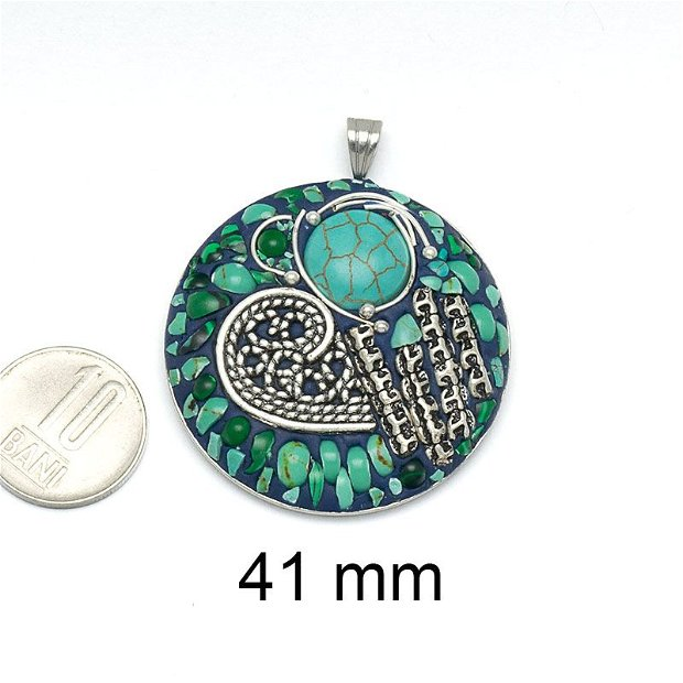 Pandantiv aliaj, 41 mm, AD 578