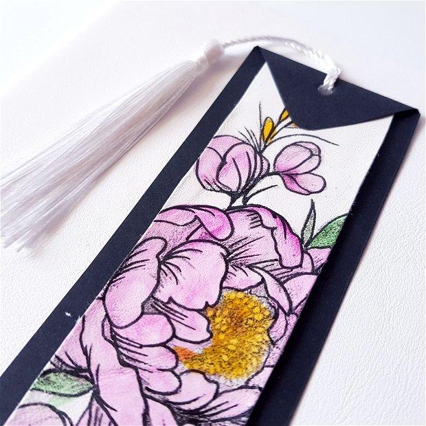 SET cu bujoroi - piele naturală: jurnal, penar, stilou, semn de carte