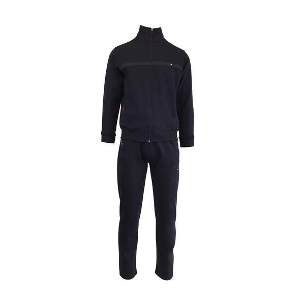 Trening barbat, Univers Fashion, culoare albastru, jacheta cu 2 buzunare cu fermoare, pantaloni cu 3 buzunare cu fermoare, M