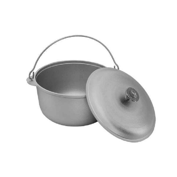 Ceaun aluminiu alimentar cu capac 6 L - Biol