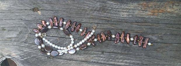 Colier din perle de cultura