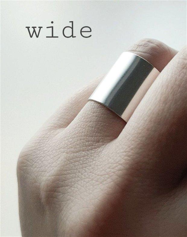 Inel lat din argint 925 WIDE