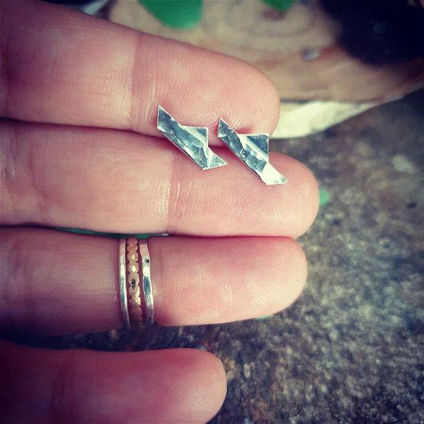 Cercei minimalisti, barcute din argint 925
